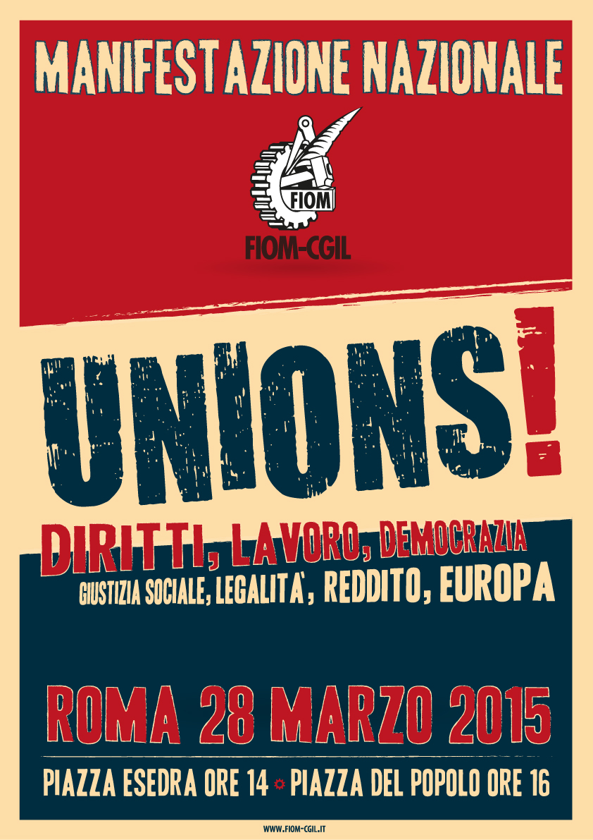 UNIONS! Manifestazione nazionale Fiom-Cgil