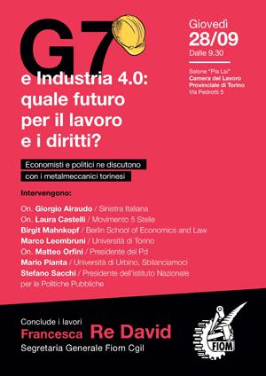 Fiom Torino, G7 e industria 4.0